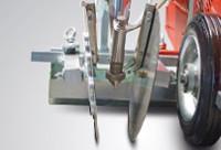 Állítható szélességű, határoló lemezekkel ellátott vonal festő egység