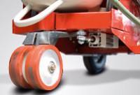 Pneumatikusan állítható irányított kerék