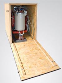 Kompakt SMG szállító láda, rögzítő pontokkal