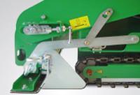 Elektromosan fűtött simítólap, állítókar a fokozat beállításához, alapanyag szabályozó