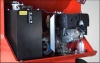 Benzin motor, és hidraulikus egység